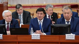 Cabinet of Abilgaziyev sworn in at Parliament of Kyrgyzstan